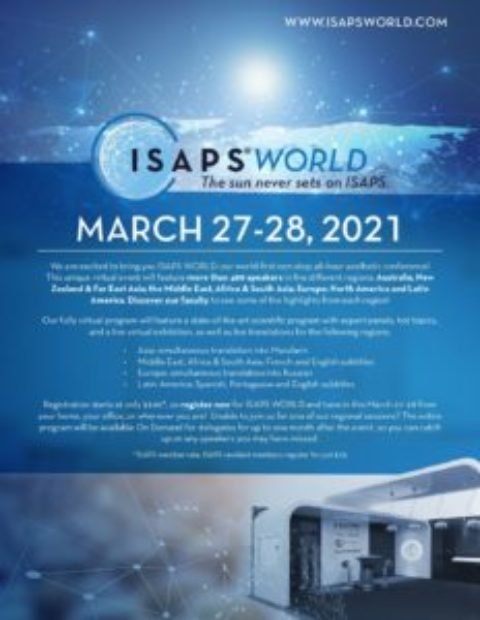 Partenariat SOFCEP – ISAPS WORLD : VIRTUAL EVENT